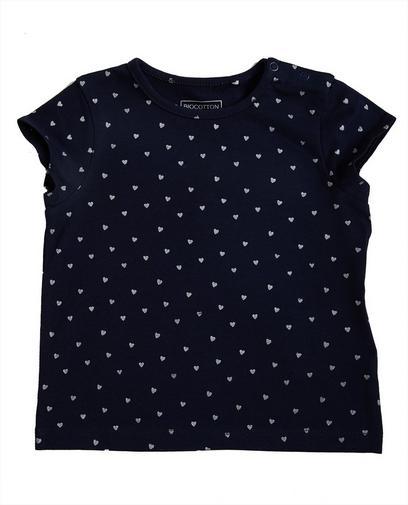 T-shirt met hartjesprint